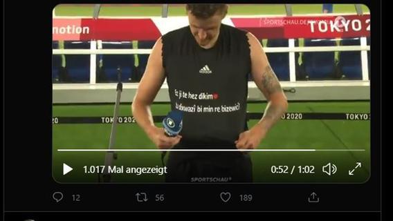 Video! Live im TV - Deutscher Olympia-Fußballstar macht Freundin nach Schlusspfiff Heiratsantrag