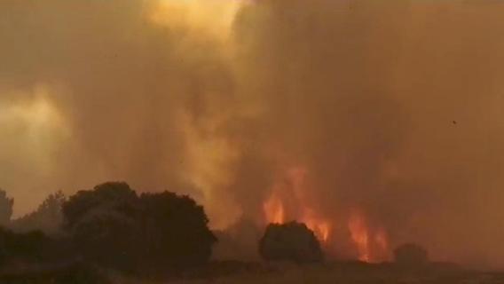 Flammen wüten auf Ferieninsel Sardinien: Hunderte Menschen evakuiert