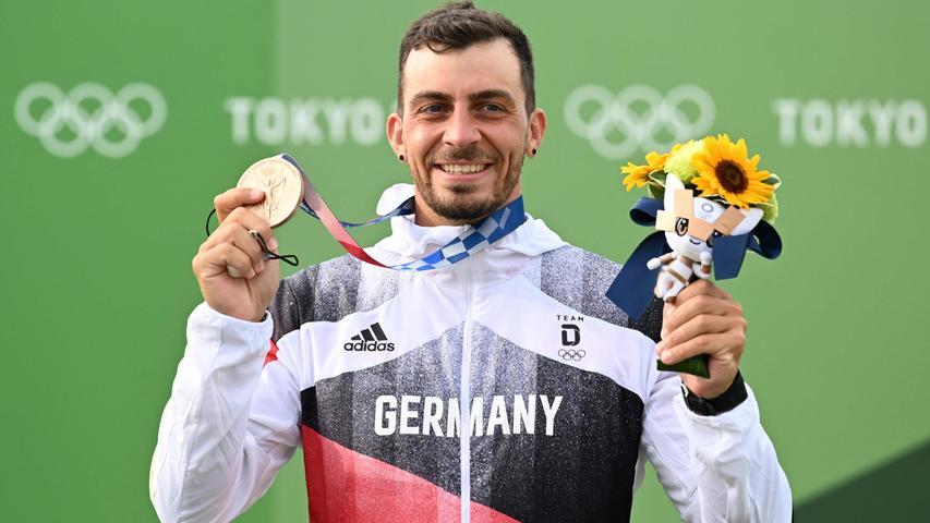 Auch die dritte Medaille für das deutsche Team war eine bronzene. Sideris Tasiadis aus Augsburg musste im Kanuslalom nurBenjamin Savšek aus Slowenien und Lukáš Rohan aus Tschechien den Vortritt lassen.