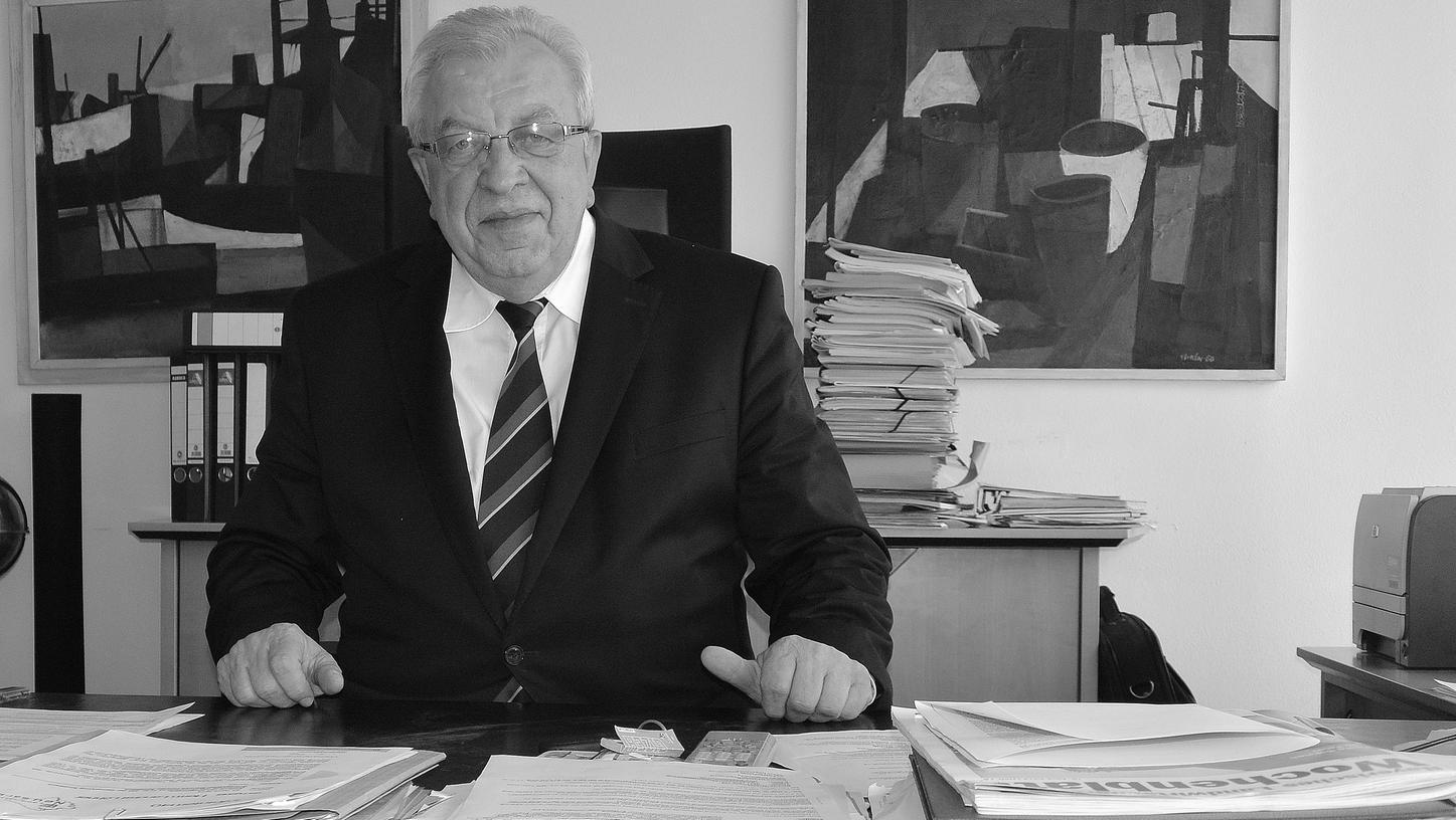 Albert Löhner an seinem letzten Tag im Landratsbüro.