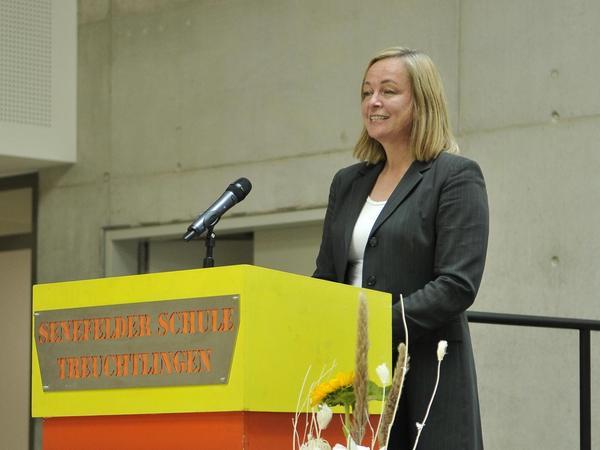 Stolzes Stadtoberhaupt: Bürgermeisterin Kristina Becker brachte Glückwünsche.