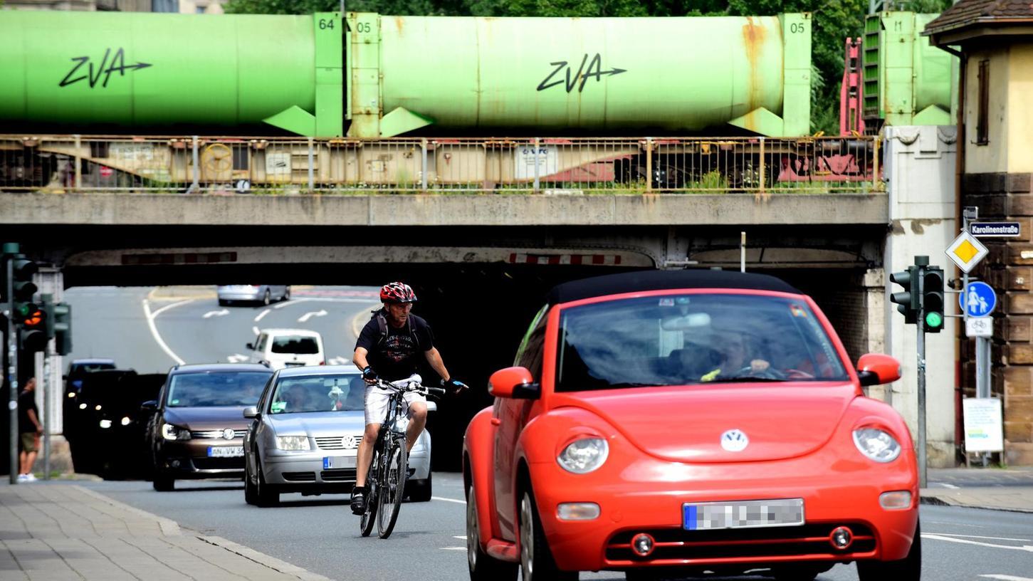 Auf der Suche nach Radwegoptimierung rücken auch die Verbindungen von und zur Südstadt in den Blickpunkt – wie hier an der Jakobinenunterführung.