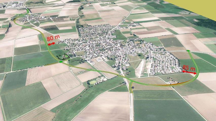 Die Südvariante der Ortsumgehung ist sowohl in Meckenhausen als auch Sindersdorf ein