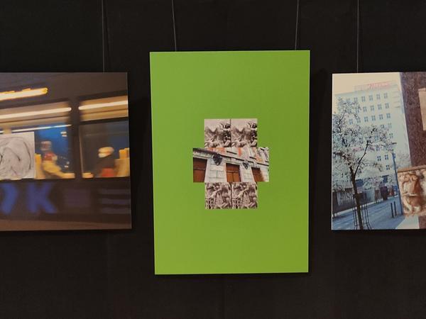 Zum Jubiläumsjahr hat das Neustädter Künstlerpaar auch eine große Foto- und Bilderwand gestaltet. Foto: nb
