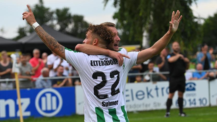 Der Rückschlag war den Quecken allerdings nicht anzumerken, die Eltersdorfer spielten munter weiter und belohnten sich mit dem 2:1 durch Tim Sulmer.
