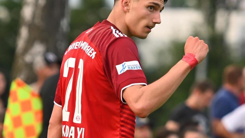 Yusuf Kabadayi war einer der auffälligsten Bayern auf dem Platz - er erzielte auch das 2:2.