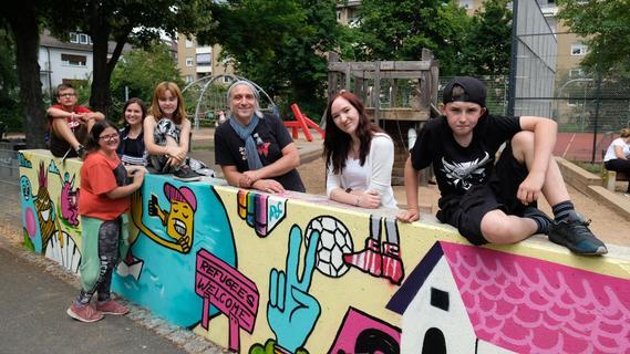 Graffiti-Projekt mit Mittelschülern in Gleißhammer