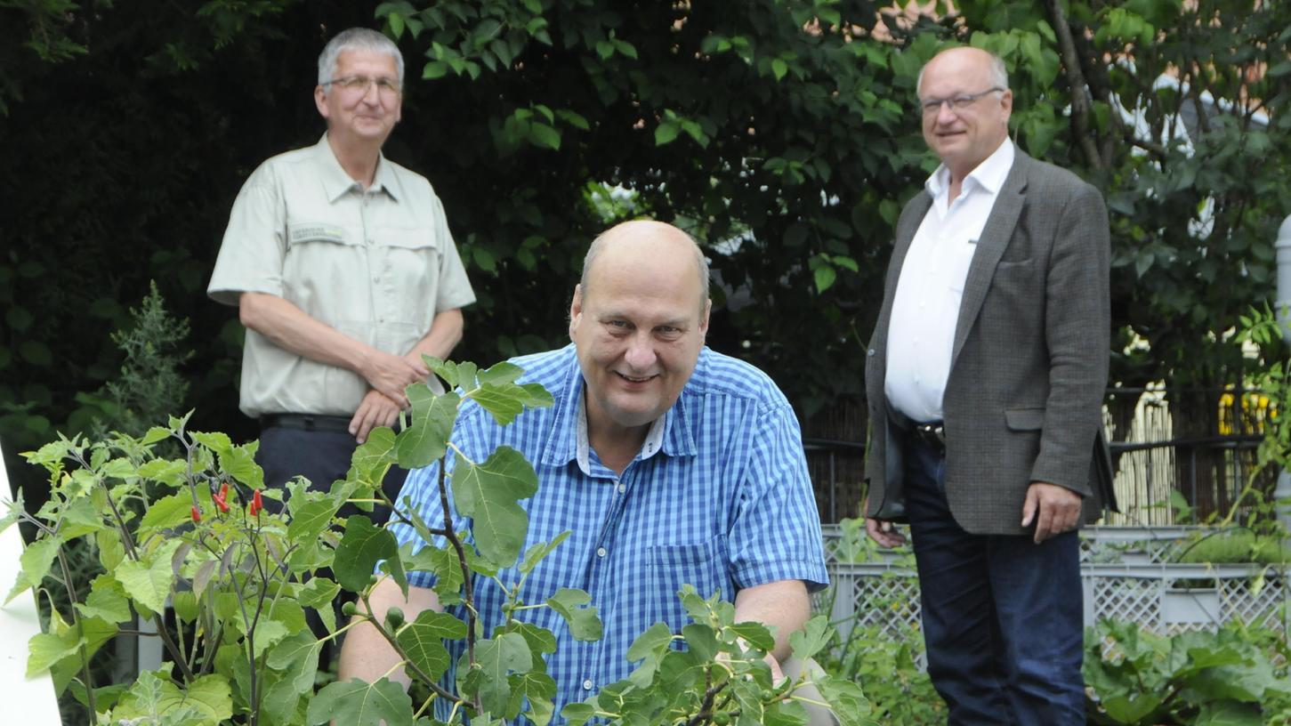 Sind zuversichtlich: Behördenleiter Gerd Düll (Mitte), der Bereichsleiter Landwirtschaft, Horst Krehn (rechts), und BereichsleiterForsten, Christian Kölling (links)