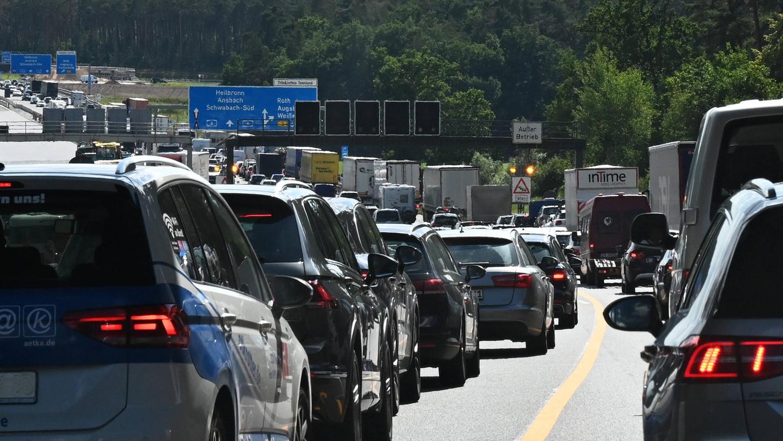 Unter anderem auf der A6 südlich von Nürnberg könnte es am Wochenende wieder mal zu Verkehrsbehinderungen kommen.