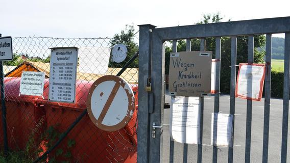 Wertstoffhof im Kreis Forchheim ohne Ankündigung geschlossen: Das steckt dahinter
