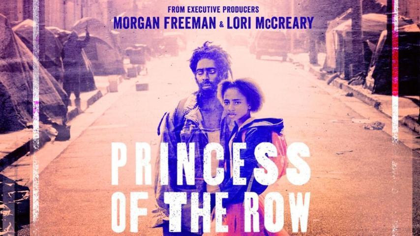 """Das Filmplakat für """"Princess oft the Row"""". Julian Scherle untermalte das Drehbuch über die Familiengeschichte aus dem Armenghetto mit Sounds und Gesang von der Straße."""