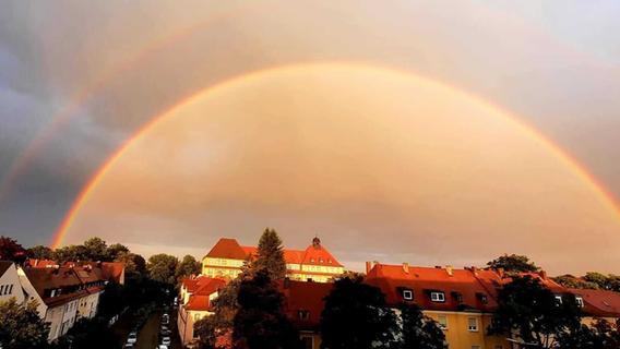 Erst Regen, dann Himmelspektakel: Regenbogen verzücken Franken