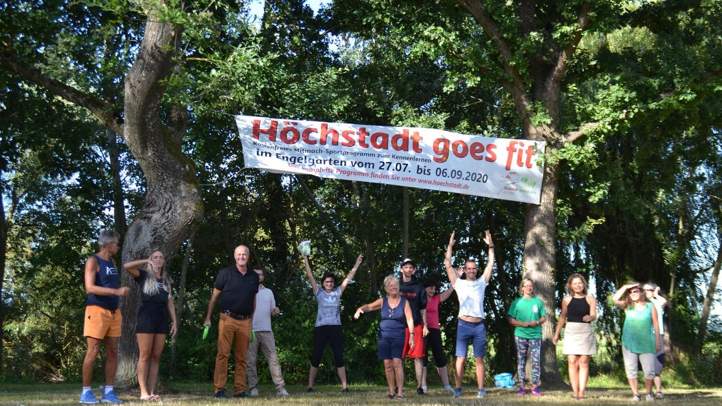 Erfolgreiche Aktion geht in die dritte Rund: VonMontag an kann man wieder täglich kostenlose Sportkurse im Engelgarten besuchen.