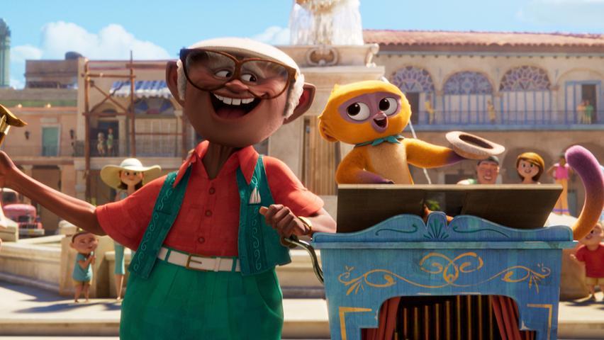 Hinter dem Titel Vivo - Voller Leben verbirgt sich ein animiertes Musical. Im Zentrum des Geschehens steht Kinkaju, ein Regenwald-Honigbär, der sich auf eine aufregende Reise begibt. Vivo - Voller Leben läuft ab 6. August bei Netflix. Ohne Altersbeschränkung.