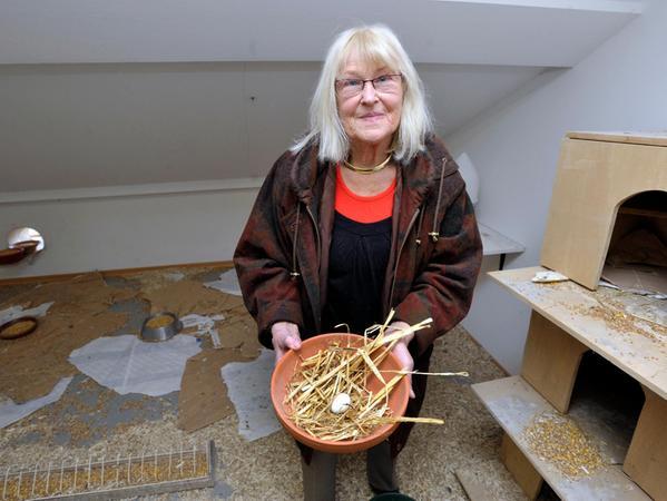 Die Erlangerin Margrit Vollertsen-Diewerge setzt sich seit vielen Jahrzehnten für Tierrechte und gegen Tierversuche ein.