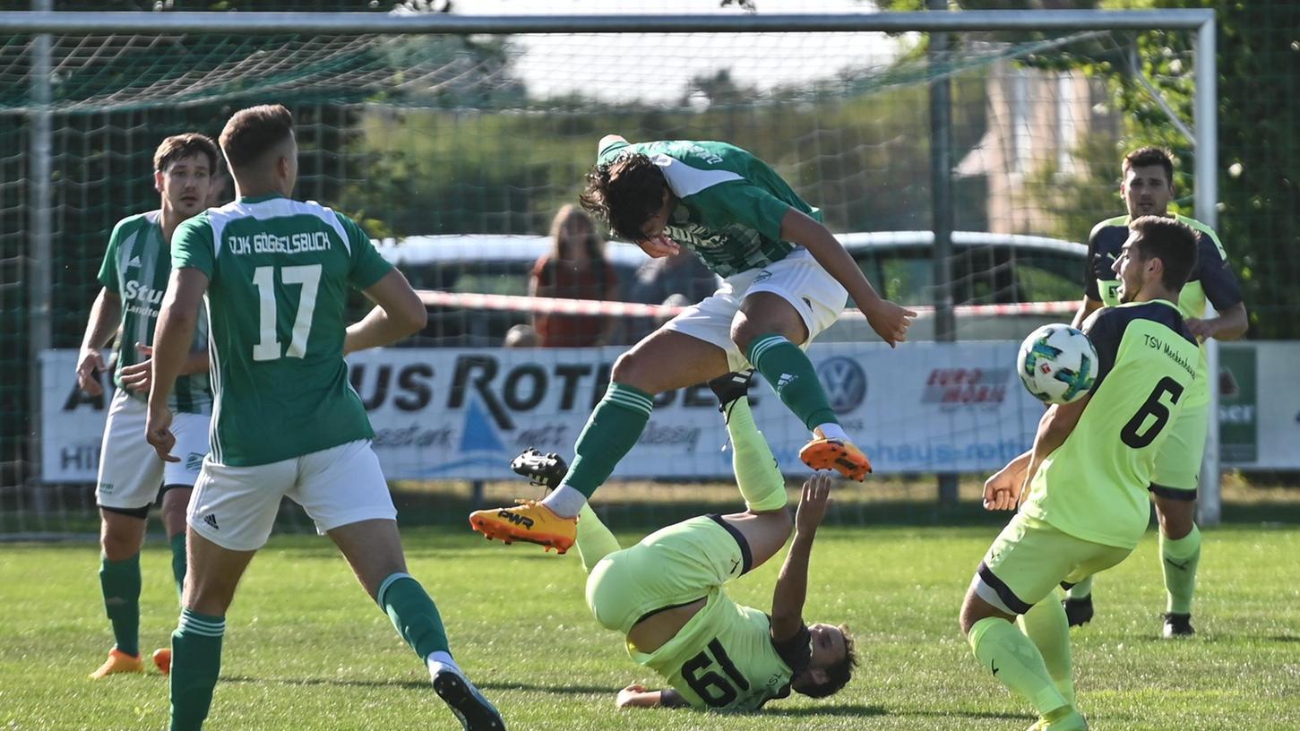 Drunter und drüber ging es bei der letzten Punktspiel-Begegnung zwischen dem TSV Meckenhausen und dem DJK Göggelsbuch am 20. September 2020. Die Partie vor fast einem Jahr endete mit einem 2:2 unentschieden.