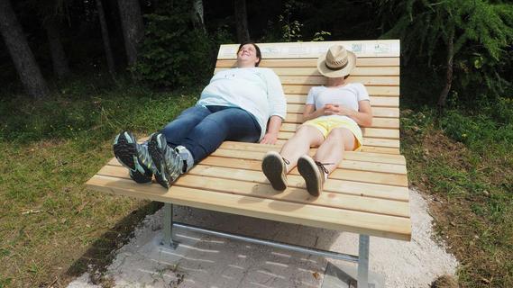 Rund um Plech: Heimatverein stellt Waldsofas zum Relaxen auf