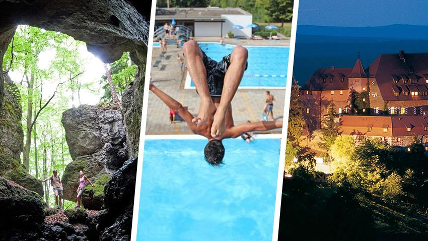 Spaß beim Wandern, Baden oder Sightseeing: Franken bietet zahlreiche tolle Möglichkeiten, um die Sommerferien zu genießen.