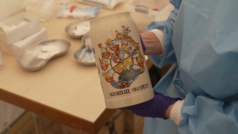 Impfen und Volksfest: Am Samstag richtete die Stadt im Rahmen des NürnBärLandes ein mobiles Impfzentrum ein.