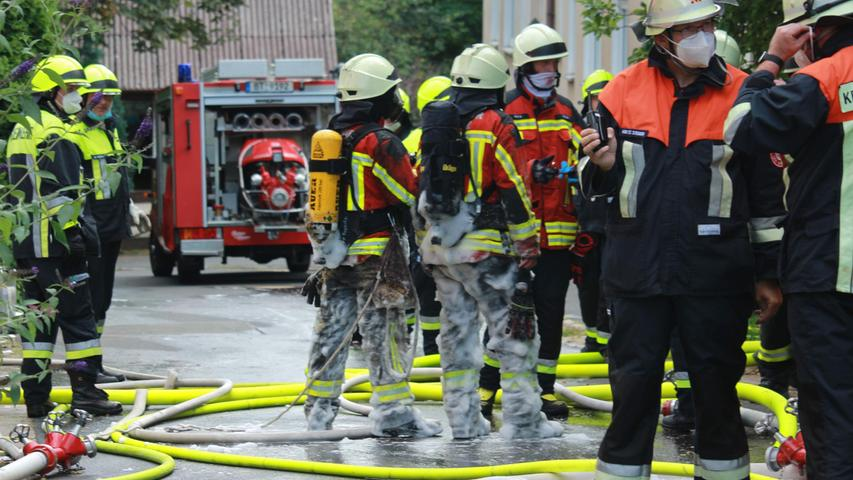 Kellerbrand in Pegnitz sorgt für aufwändigen Feuerwehreinsatz