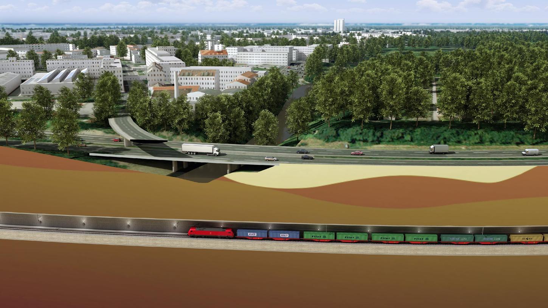 40 Meter unter der Pegnitz: So sieht der neue Güterzugtunnel für Nürnberg und Fürth aus