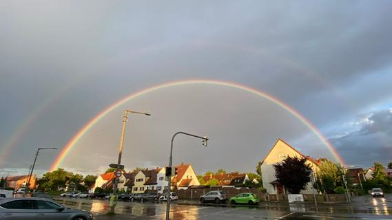 Bilder! Nach Unwetter - Doppelregenbogen verzaubert Nürnberg