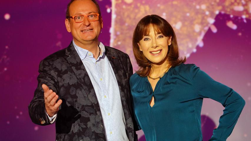 Waren ein eingespieltesModeratoren-Duo: Der Fürther Entertainer Volker Heißmann und Sabine Sauer.