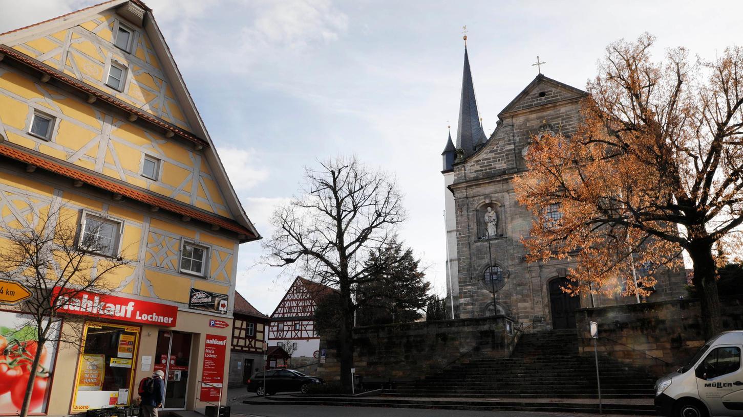 Kirchehrenbachs Ortskern: Im Dorf gibt es einige Schwächen, zum Beispiel fehlen generationenübergreifende Begegnungsmöglichkeiten.