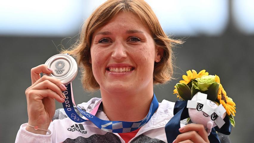 66,86 Meter - mit dieser Distanz gewann Kristin Pudenz die Silbermedaille im Finale der Diskuswerferinnen. Diese Weite war zugleich ihre persönliche Bestmarke.