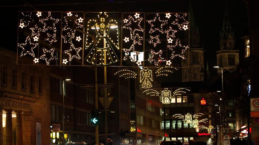Geld für Weihnachtsbeleuchtung fehlt – bleiben in Nürnberg heuer einige Lichterketten aus?