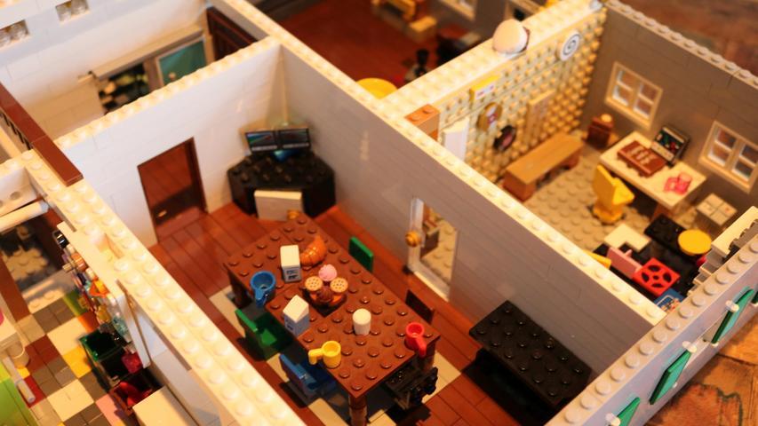 Eine Wohnung im Miniformat, ganz aus Lego.