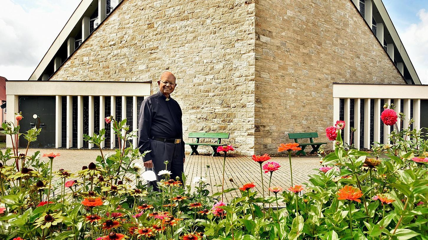 Pfarrer Mathew Kiliroorhat seinen Lieblingsplatz selbst gestaltet.