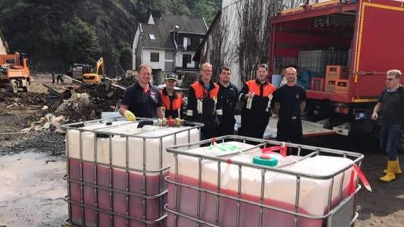Feuerwehrleute aus dem Landkreis Neumarkt helfen im Ahrtal