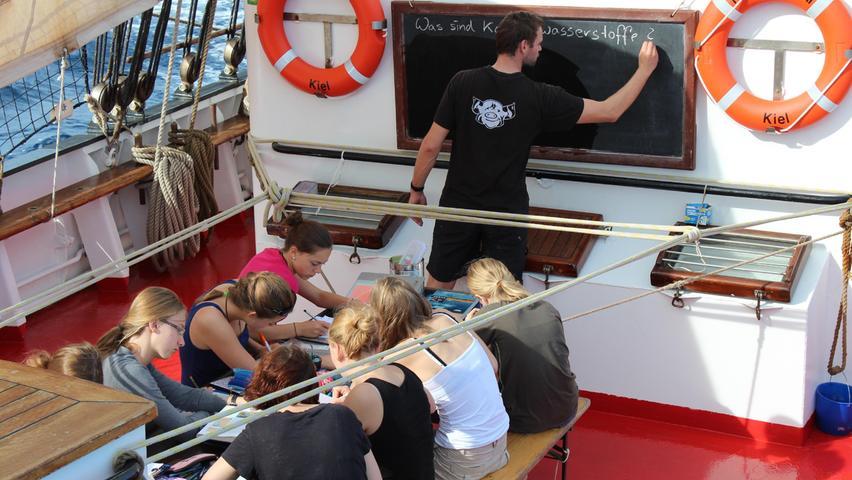 An Bord der Thor Heyerdahl warten Abenteuer und Freiheit, aber auch fleißiges Lernen.