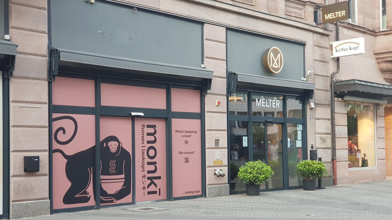 Das neue Nudel-Restaurant Monki Ramen eröffnet in der Nürnberger Königstraße.