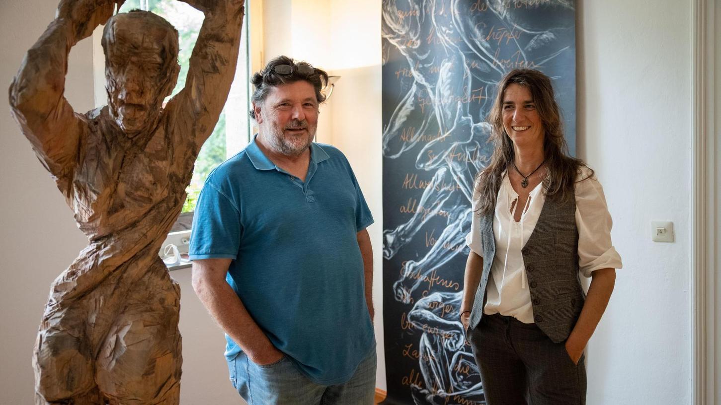 Ein kongeniales Zusammenspiel: Corinna Smok und Clemes Heinl in der Galerie in der Promenade.