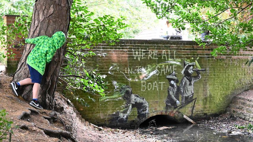 Neue Werke von Banksy an der englischen Nordseeküste aufgetaucht