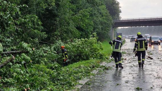 Hagel, Starkregen und Sturmböen: Erneut fegen Unwetter über Region hinweg