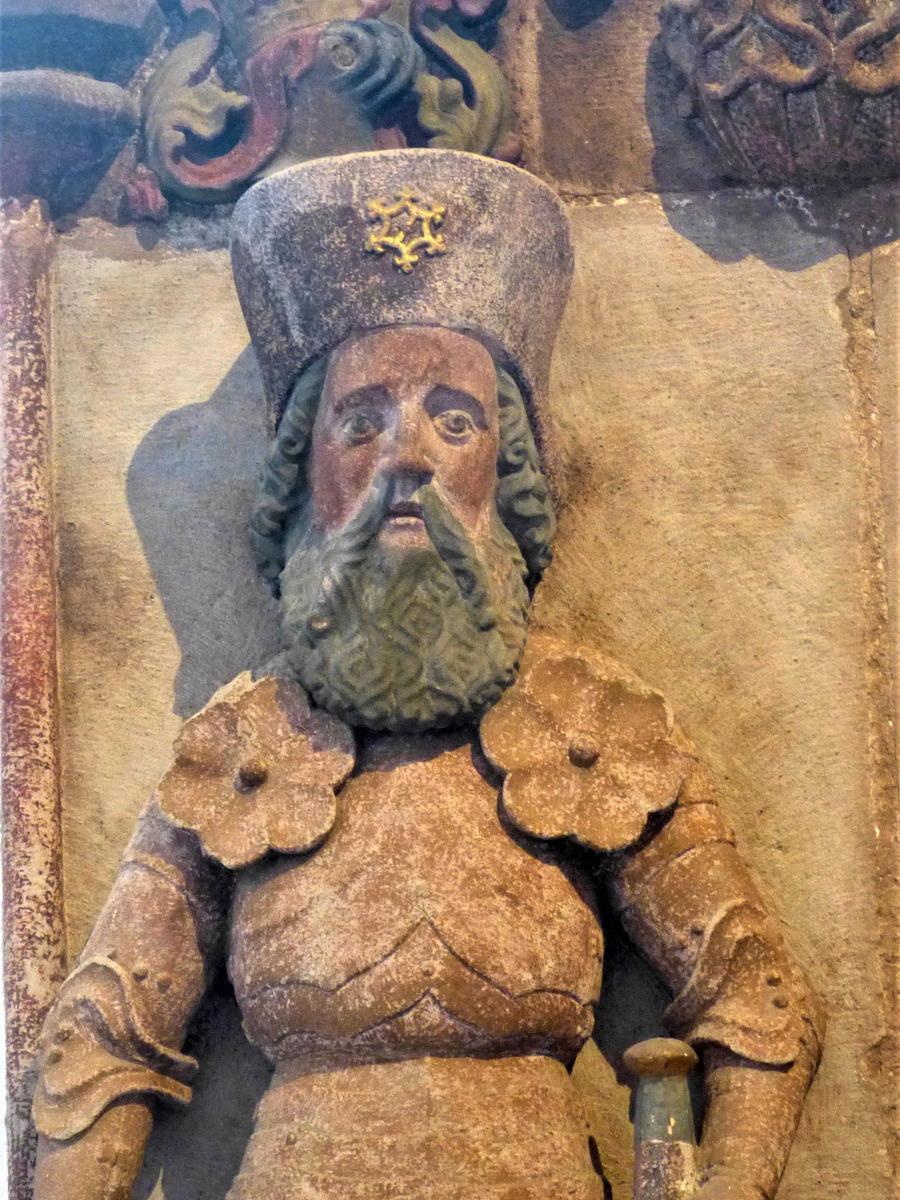 Dieses Epitaph in der Stadtkirche von Schwabach erinnert an Hans von Wallenrod.