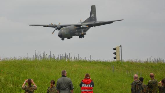 Die Transall C-160 flog am Mittwoch zum letzten Mal über Nürnberg