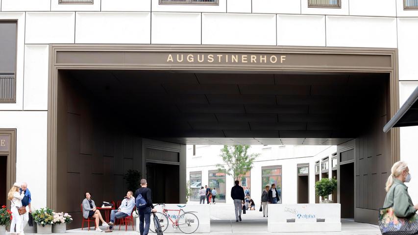 Nur 80 Meter vom Hauptmarkt entfernt liegt der Augustinerhof
