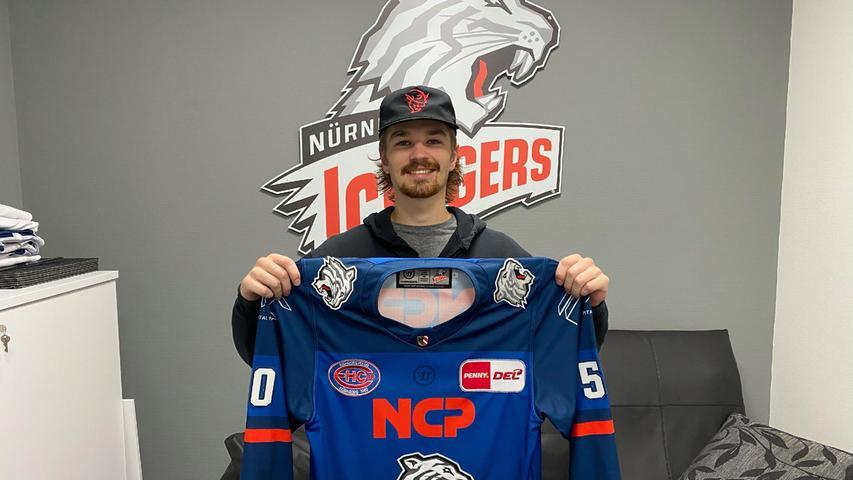 Neuzugang: Jake Ustorf trainiert schon seit zwei Wochen mit den Ice Tigers und gehört jetzt auch fest zum Team.