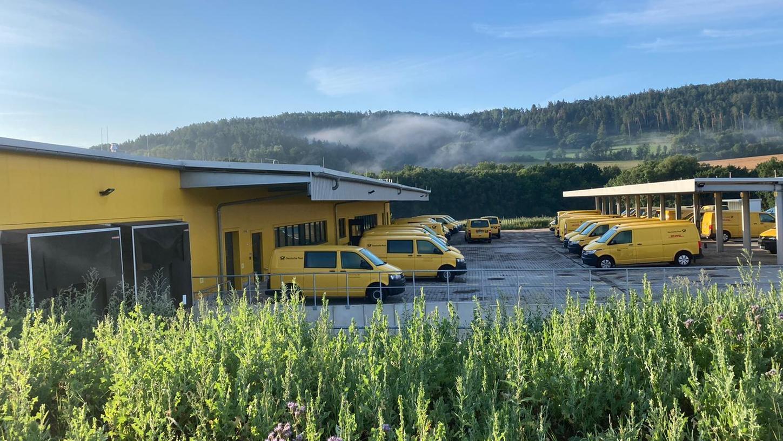 In Betrieb ist bereits der neue Zustellstützpunkt der Deutschen Post in Igensdorf.