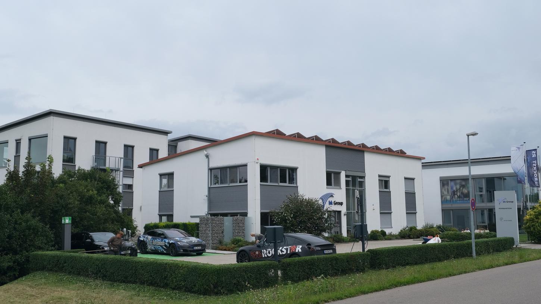 Zentrale der europaweit agierenden bk Group im Gewerbepark Endsee (Gemeinde Steinsfeld) bei Rothenburg.