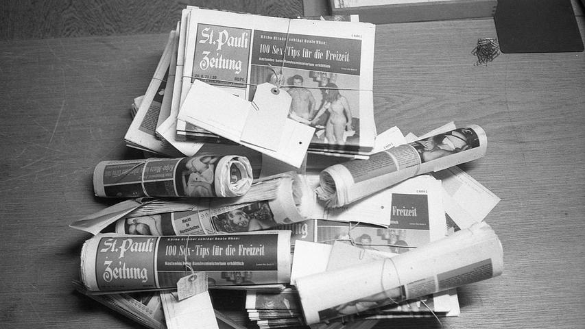 Eine Blitzaktion der Nürnberger Polizei wurde durch ein Fernschreiben des Hamburger Amtsgerichts notwendig: Darin war die sofortige Beschlagnahme der neuesten