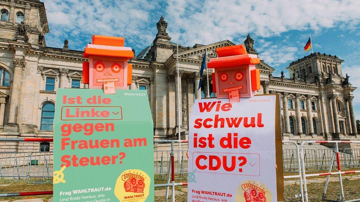 Ein Wahl-O-Mat für die Bundestagswahl mit dem Schwerpunkt Gleichberechtigung: Das ist Wahltraut.
