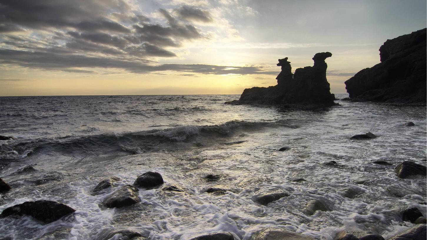 Stimmungsvolle Ostseeküste auf der Insel Bornholm.
