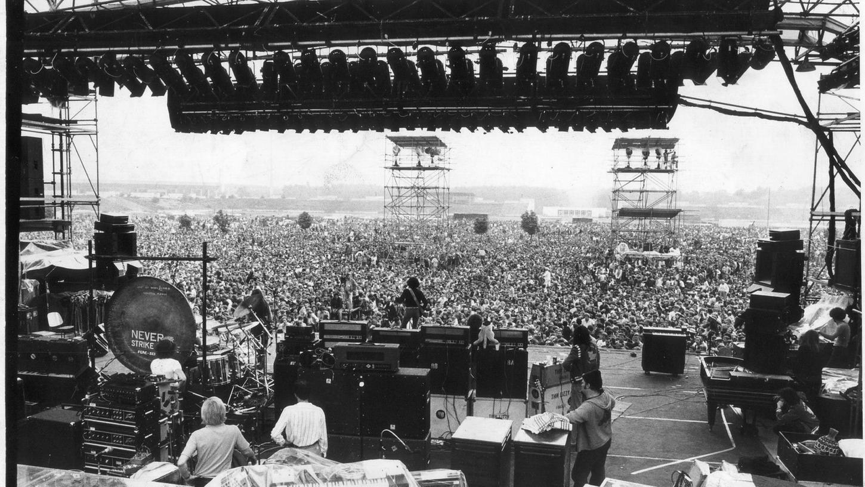 50 000 Fans kamen zum ersten Rock-Freiluft-Festival in Nürnberg 1977.