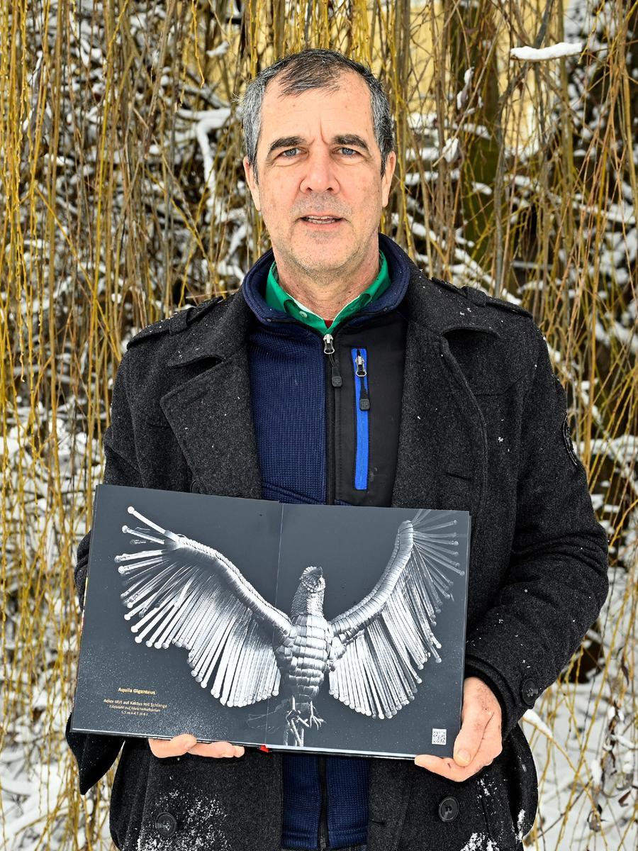 Künstler Dieter Erhard präsentierte Anfang des Jahres sein Fotobuch mit seinen Arbeiten.