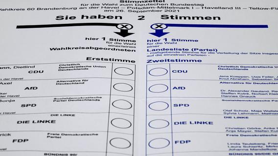 So funktionieren die Wahlzettel zur Bundestagswahl 2021